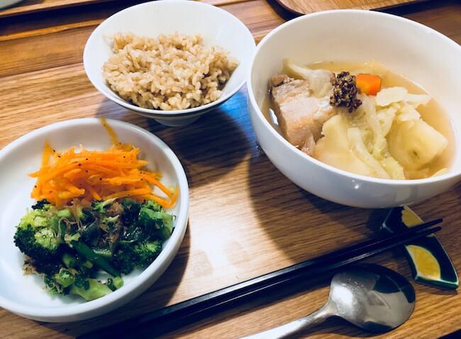 お腹痩せに効果的な昼食例