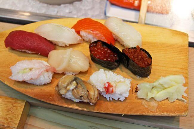 チートミールに適した食事は寿司