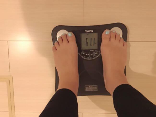10キロダイエット_2日目_体重