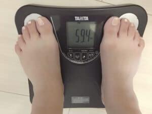 10キロダイエット_40代_女性_25日目_体重